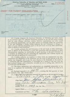 SYLVIA BERNSTEIN - DOCUMENT SIGNED 07/27/1955