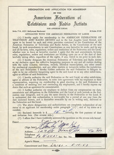 STANLEY McKAY - DOCUMENT SIGNED 05/21/1953