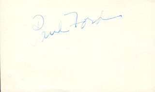 PAUL FORD - AUTOGRAPH