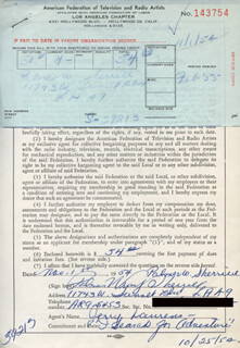 PALMER WRAY SHERRILL - DOCUMENT SIGNED 11/01/1954