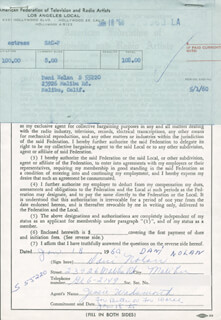 DANI SUE NOLAN - DOCUMENT SIGNED 01/18/1960