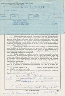 RUTH MELOY - DOCUMENT SIGNED 05/20/1959
