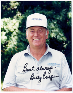 BILLY CASPER - AUTOGRAPHED SIGNED PHOTOGRAPH