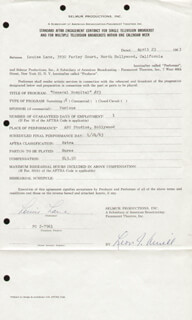 LOUISE LANE - DOCUMENT SIGNED 04/23/1963