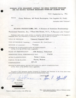 CISSY WELLMAN - DOCUMENT SIGNED 09/04/1963