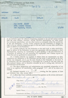 PAM SMITH - DOCUMENT SIGNED 11/02/1959