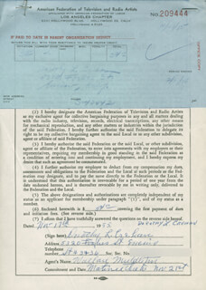 DOROTHY L CREHAN - DOCUMENT SIGNED 11/17/1955