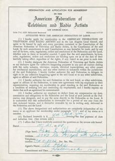 GEORGE L. SPAULDING - DOCUMENT SIGNED 10/21/1953