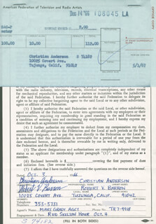 Autographs: ROBERT V. BARRON - DOCUMENT SIGNED 10/03/1966