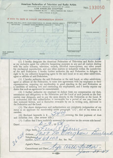 FERN P. BARRY - DOCUMENT SIGNED 02/09/1954