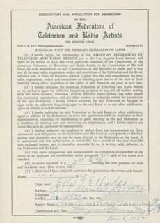 ELLA ETHRIDGE - DOCUMENT SIGNED 12/04/1952