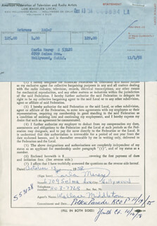 CARLA MEREY - DOCUMENT SIGNED 10/13/1958