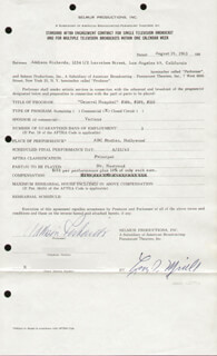ADDISON RICHARDS - CONTRACT SIGNED 08/19/1963