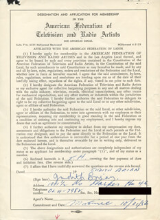 JUDITH BRIAN - DOCUMENT SIGNED 10/31/1956