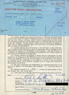 KIRBY C. SMITH - DOCUMENT SIGNED