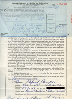RAFAEL CAMPOS - DOCUMENT SIGNED 01/11/1956