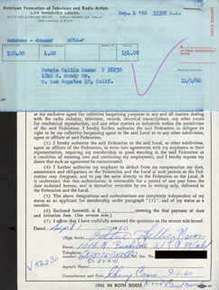 PETRIE MASON - DOCUMENT SIGNED 09/01/1960