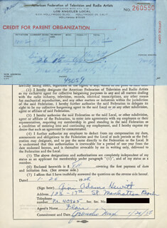 GINI ADAMS HEWITT - DOCUMENT SIGNED 01/26/1956