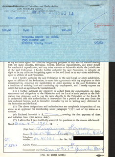 VIRGINIA SEMON - DOCUMENT SIGNED 12/04/1961
