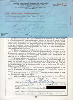 LOUISE VOLDING - DOCUMENT SIGNED 02/21/1955