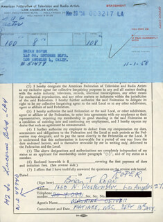 BRIAN T. ROPER - DOCUMENT SIGNED 11/01/1958