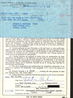 ROBERT M. HARKNESS - DOCUMENT SIGNED 05/12/1961