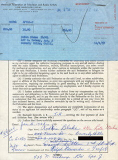 ROBIN BLAKE - DOCUMENT SIGNED 01/16/1958