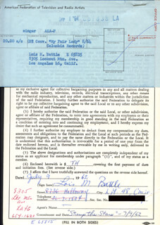 LOIS M. BATTLE - DOCUMENT SIGNED 07/09/1962