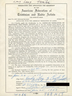 RUDY LEE - DOCUMENT SIGNED BY A DEPUTY 01/24/1953