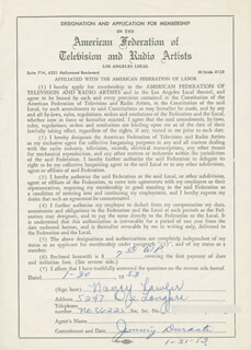 NANCY LAWLER - DOCUMENT SIGNED 01/30/1953