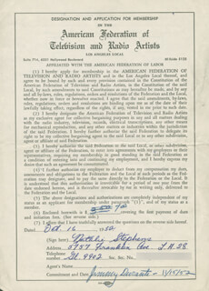 NATALIE STEPHENS - DOCUMENT SIGNED 10/16/1952