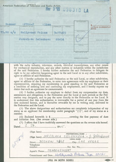 JAROSLAVA ZELENKOVA - DOCUMENT SIGNED 03/24/1965