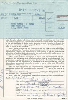 DAVID MOFFAT - DOCUMENT DOUBLE SIGNED 08/23/1967
