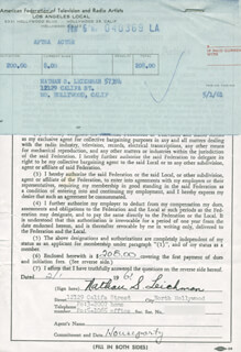 NATHAN S. LEICHMAN - DOCUMENT SIGNED 02/01/1961