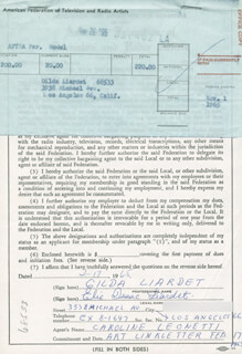 ELIE ISAAC LIARDET - DOCUMENT SIGNED 02/17/1965