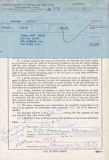 DIANE TODD - DOCUMENT SIGNED 07/02/1959