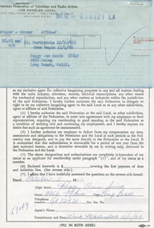 PEGGY ANN SMITH - DOCUMENT SIGNED 10/11/1960