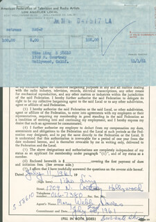 TIKO LING - DOCUMENT SIGNED 07/11/1961