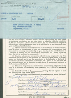 TIKI HANALEI - DOCUMENT DOUBLE SIGNED 07/18/1962