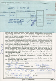 PETER KILMAN - DOCUMENT DOUBLE SIGNED 01/18/1967