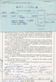 JERRY H. HARPER - DOCUMENT SIGNED 09/09/1966