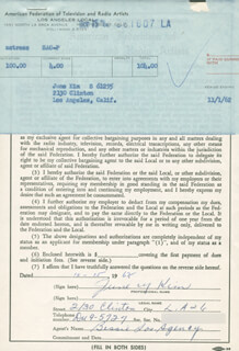 JUNE KIM - DOCUMENT SIGNED 10/15/1962