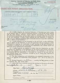 DAVID LIPP - DOCUMENT SIGNED 09/13/1955