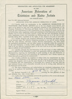 NAPUA (WOODD) WOOD - DOCUMENT SIGNED 11/24/1952