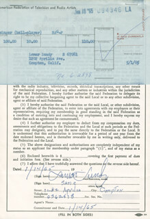 LAMAR LUNDY - DOCUMENT SIGNED 01/14/1965