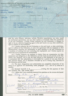BOB RALSTON - DOCUMENT DOUBLE SIGNED 05/22/1963