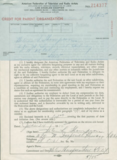 HELEN L. THOMPSON - DOCUMENT SIGNED 06/24/1955