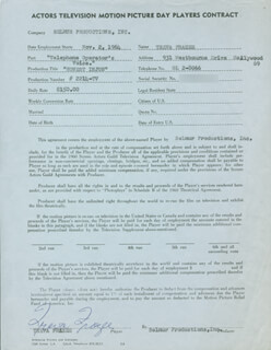 TREVA FRAZEE - CONTRACT SIGNED 11/02/1964