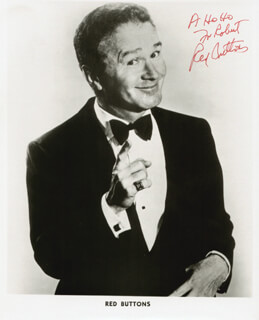 RED BUTTONS - AUTOGRAPHED INSCRIBED PHOTOGRAPH  - HFSID 2825