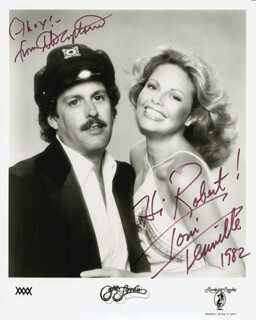 CAPTAIN & TENNILLE - AUTOGRAPHED INSCRIBED PHOTOGRAPH 1982 CO-SIGNED BY: CAPTAIN & TENNILLE (DARYL DRAGON), CAPTAIN & TENNILLE (TONI TENNILLE)